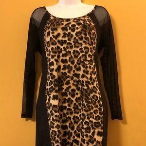 NEW LISTING 🎉Preloved Leopard & Black Dress